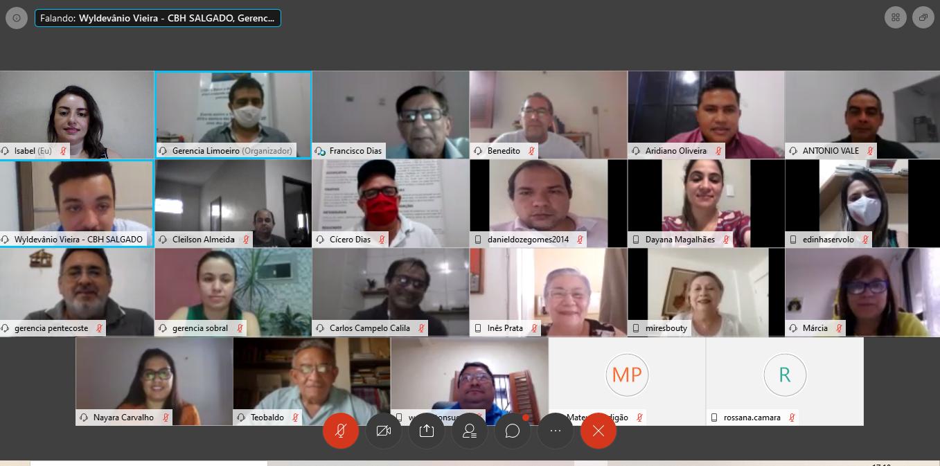 Fórum Cearense de Comitês de Bacias Hidrográficas realiza encontro virtual